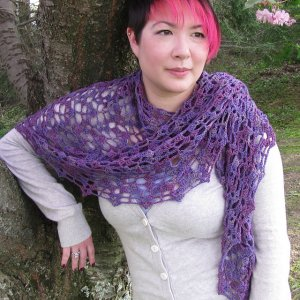 Poetry in Yarn Patterns - Drift Ice Shawl Pattern