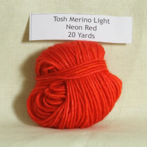 madelinetosh tosh merino light samples yarn neon red at jimmy beans. Black Bedroom Furniture Sets. Home Design Ideas