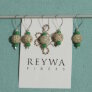 Reywa Fibers Handcrafted Tibetan Stitch Markers  - Black & White Speckle