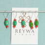 Reywa Fibers Handcrafted Tibetan Stitch Markers  - Green - Oval
