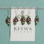 Reywa Fibers Handcrafted Tibetan Stitch Markers  - White Circles
