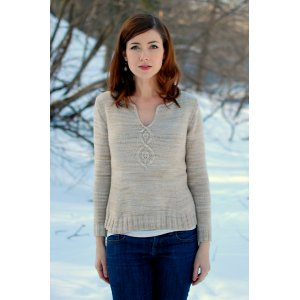 Never Not Knitting Patterns - Cabled Leaf Pullover