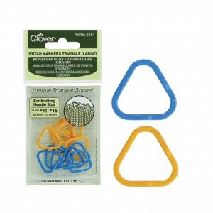 Clover Stitch Markers - Stitch Marker Triangle - Large