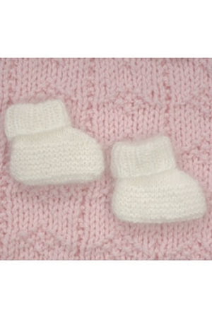 Plymouth Yarns Angora Baby Booties Kit - Baby and Kids Socks