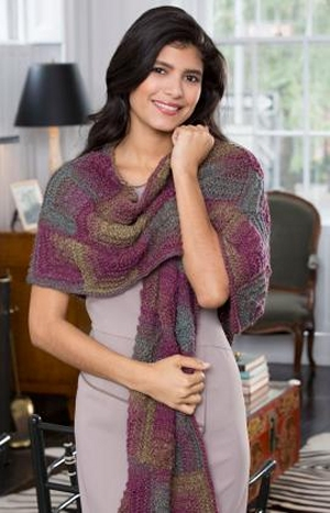 Red Heart Boutique Midnight Knit Mitered Shawl Kit - Scarf and Shawls