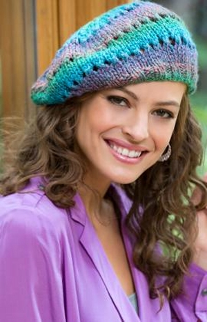 Red Heart Boutique Midnight Butterfly Knit Beret Kit Hats And