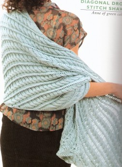 Berroco Ultra Silk Diagonal Drop Stitch Shawl Kit - Scarf and Shawls