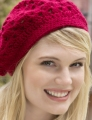 Red Heart Soft Solid Crocheted Bridgette Beret  Kit