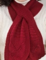Red Heart Soft Solid Keyhole Scarf