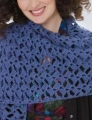 Red Heart Soft Solid Crochet Romantic Lacy Shawl