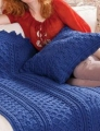 Red Heart With Love Basketweave Diamond Throw Kit
