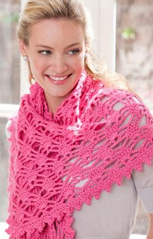 Red Heart With Love Crochet Simply Irresistible Shawl Kit - Crochet for Adults