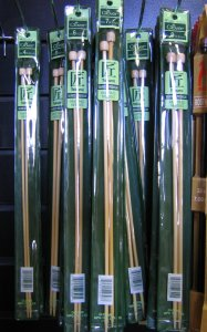 "Clover Single Point Needles - US 8  - 13"" Needles"