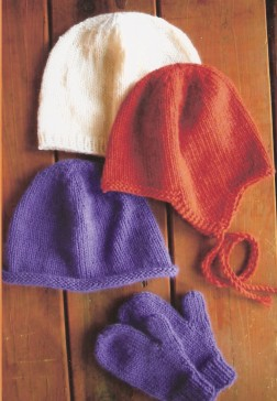 Knitting Pure and Simple #253 Basic Hat & Mitten Set Kit - Baby and Kids Accessories
