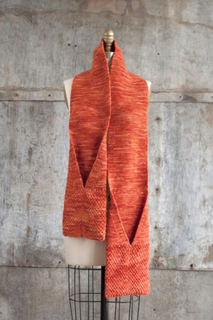 Manos del Uruguay Maxima Solid Camote Pocket Scarf Kit - Scarf and Shawls