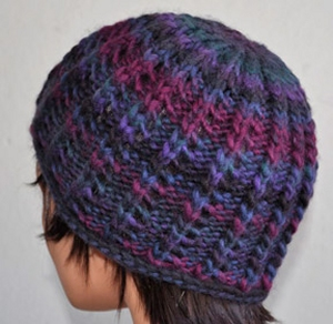 Crystal Palace Yarns Chunky Mochi Roll Brim Lacy Ribbed Hat Kit - Hats and Gloves