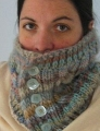Crystal Palace Yarns Chunky Mochi Button Cabled Cowl