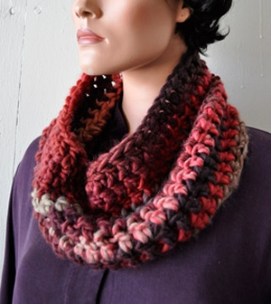 Crystal Palace Yarns Chunky Mochi Super Quick and Easy Crochet Cowl Kit - Crochet for Adults
