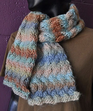 Crystal Palace Yarns Chunky Mochi Woven Cable Scarf Kit - Scarf and Shawls
