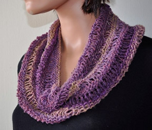 Crystal Palace Yarns Danube Dk Drop Stitch Cowl Kit - Scarf and Shawls