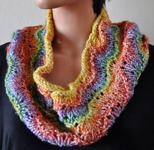 Crystal Palace Yarns Gold Rush Easy Peacock Cowl Kit - Scarf and Shawls