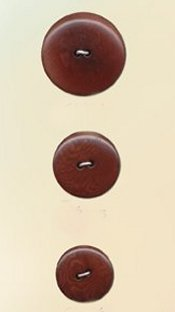 Blue Moon Button Art Nut Buttons - Burgundy Corozo 1 1/8""