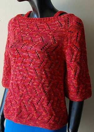 Crystal Palace Yarns Merino 5 Eyelet Branch Pullover Kit - Women's Pullovers