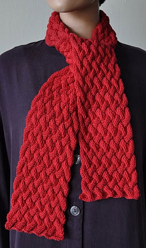 Crystal Palace Yarns Merino 5 Woven Cable Scarf Kit - Scarf and Shawls