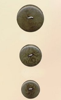 Blue Moon Button Art Nut Buttons - Green Corozo 7/8""