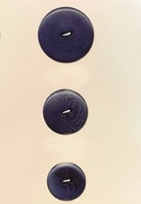 Blue Moon Button Art Nut Buttons - Blue Corozo 3/4""