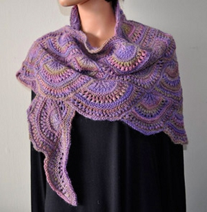 Crystal Palace Yarns Nocturne Dk Fan Shawl Kit - Scarf and Shawls