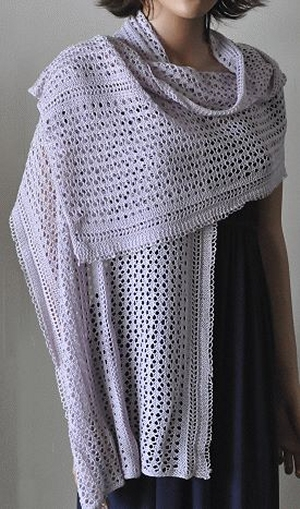 Crystal Palace Yarns Panda Silk Weekender Lace Wrap Stole Kit - Scarf and Shawls