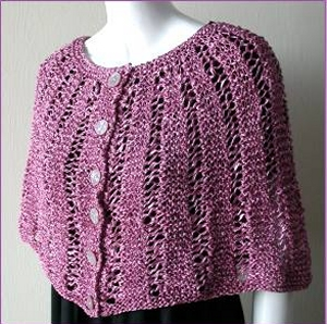 Crystal Palace Yarns Party Capelette in Garter-Lace Kit - Women's Accessories