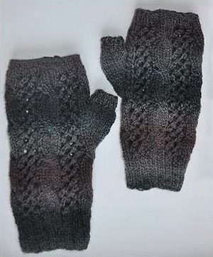 Crystal Palace Yarns Sausalito Smokey Cables and Lace Fingerless Gloves Kit - Hats and Gloves