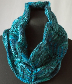 Cascade Yarns 128 Superwash Multis Chevron and Feather Cowl Kit - Scarf and Shawls