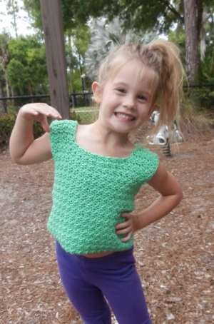 Cascade Yarns Avalon Summer Fun Cotton Tank Kit - Crochet for Kids