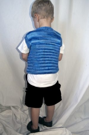 Cascade Yarns 220 Superwash Sport Multis Flying Geese Vest Kit - Baby and Kids Vests