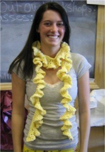 Crystal Palace Cotton Chenille Crocheted Ruffle Scarf Kit - Crochet for Adults
