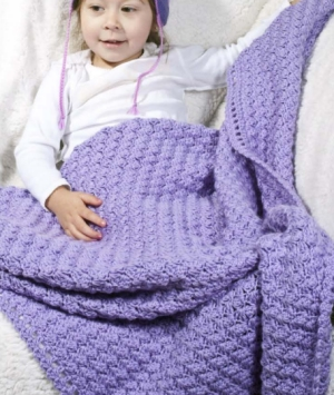 Cascade Yarns Cherub Aran Ariel's Baby Blankie Kit - Crochet for Kids