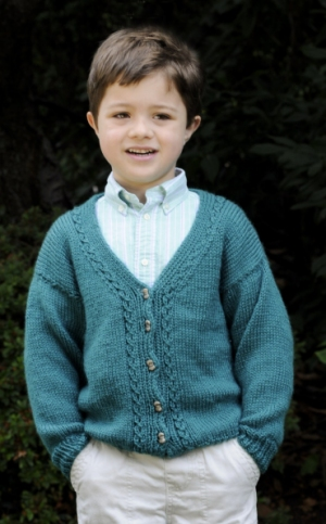 Cascade Yarns Cherub Aran Cardigan Kit - Baby and Kids Cardigans