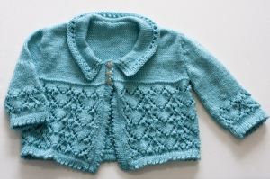 Cascade Yarns Cherub Dk Here's My Heart Cardi Kit - Baby and Kids Cardigans