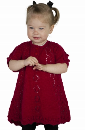 Cascade Yarns Cherub Dk Little Lace Top Kit - Baby and Kids Cardigans