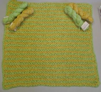 Crystal Palace Cotton Chenille Crocheted Baby Blanket Kit - Crochet for Kids