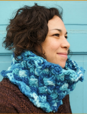 Cascade Yarns Magnum Paints Daphne's Cabled Cowl Kit - Scarf and Shawls