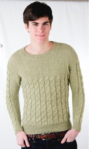 Cascade Yarns Pure Alpaca Man's Cabled Sweater Kit - Mens Sweaters