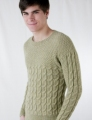 Cascade Yarns Pure Alpaca Man's Cabled Sweater