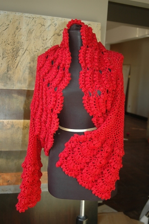 Cascade Yarns Sunseeker Flamenco Shrug Kit Crochet For Adults Kits