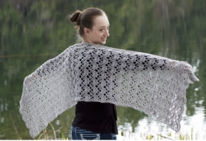 Cascade Yarns Sunseeker Lacey Arches Stole Kit - Crochet for Adults