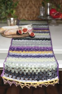 Noro Taiyo Sock Table Runner Kit - Crochet for Home
