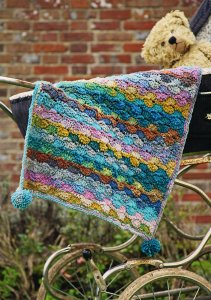 Noro Kureyon Pom Pom Buggy Blanket Kit - Crochet for Kids